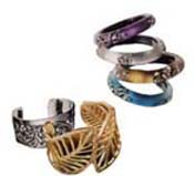 large cuff bracelets and colorful bangles