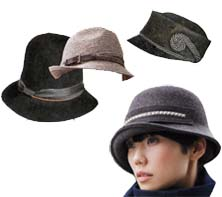 hats: fedoras, small brims, and leather headbands are just right for 2010 fall fashions